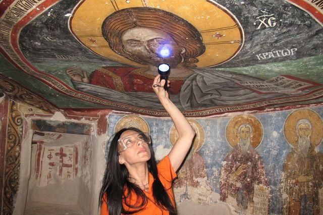 Byzantine monastery painting