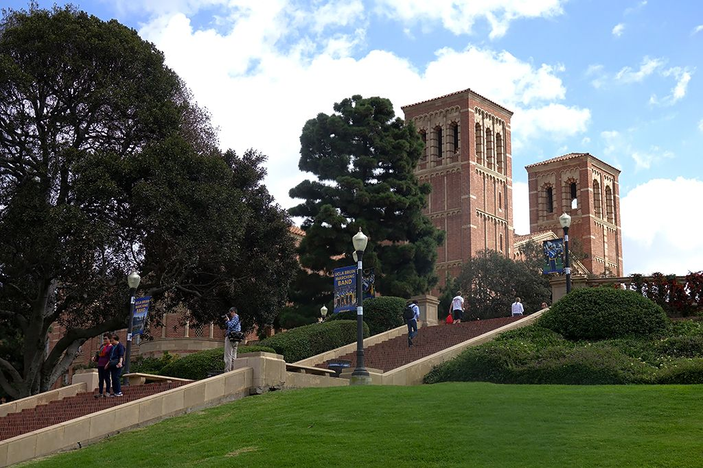 UCLA's Janss Steps and Royce Hall