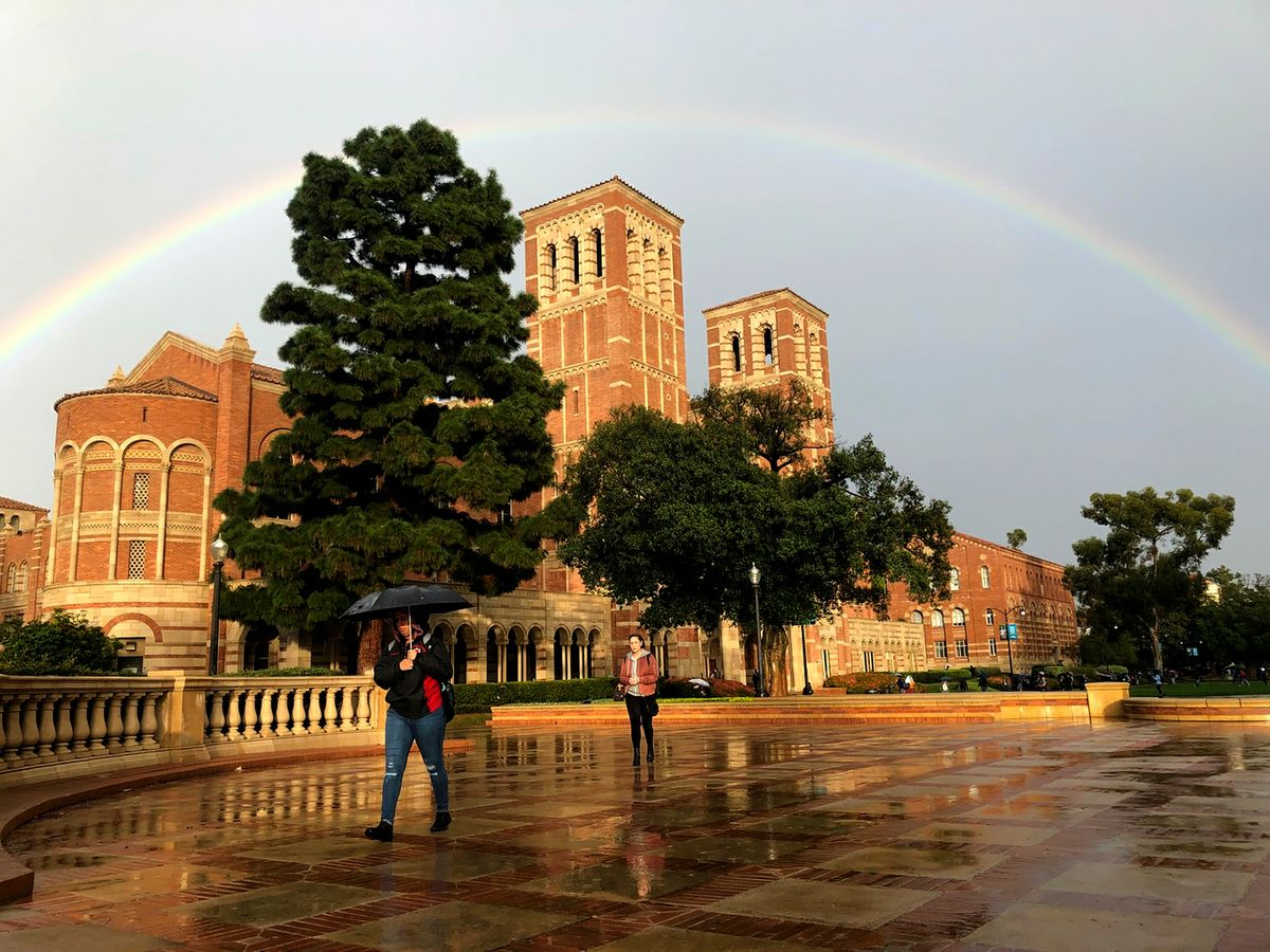 Rainbow over UCLA's Royce Hall