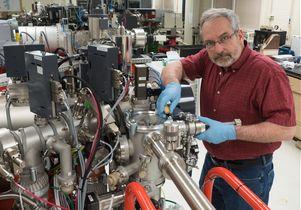 Kevin McKeegan in lab
