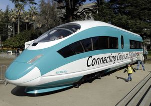High-speed train mock-up