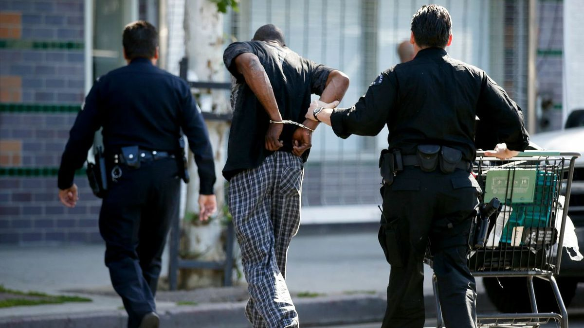 Skid Row arrest in L.A.