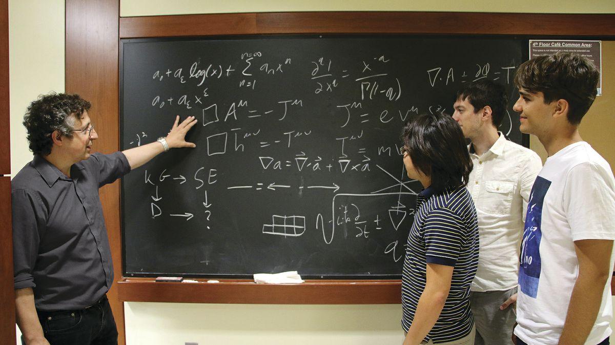 Zvi Bern with students