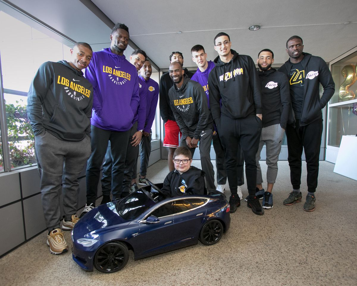 Lakers at UCLA Mattel Children's Hospital