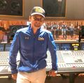 Matt Bellamy in recording studio with UCLA Bruin Marching Band