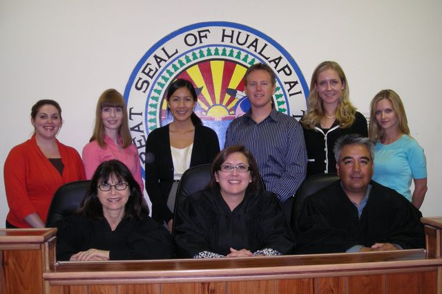 Carole Goldberg with group at Hualapai court