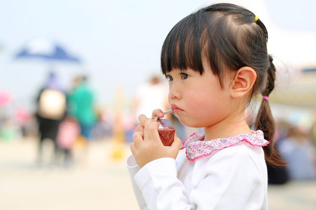 Young girl with juice