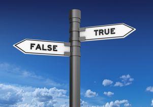 True and false signs