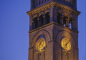 Clock tower at Trump International Hotel