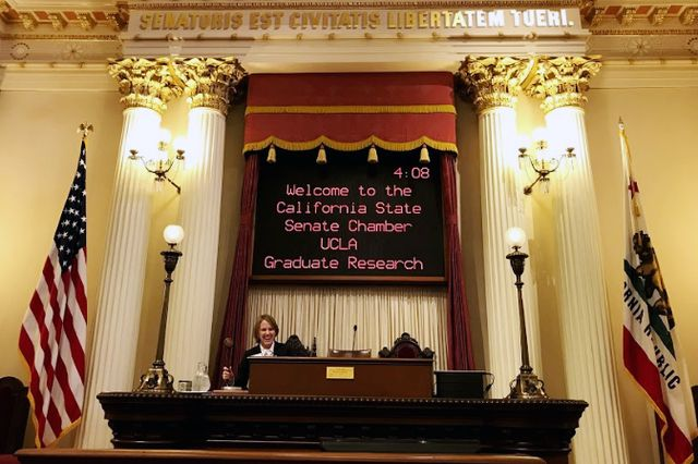 California state senate chambers