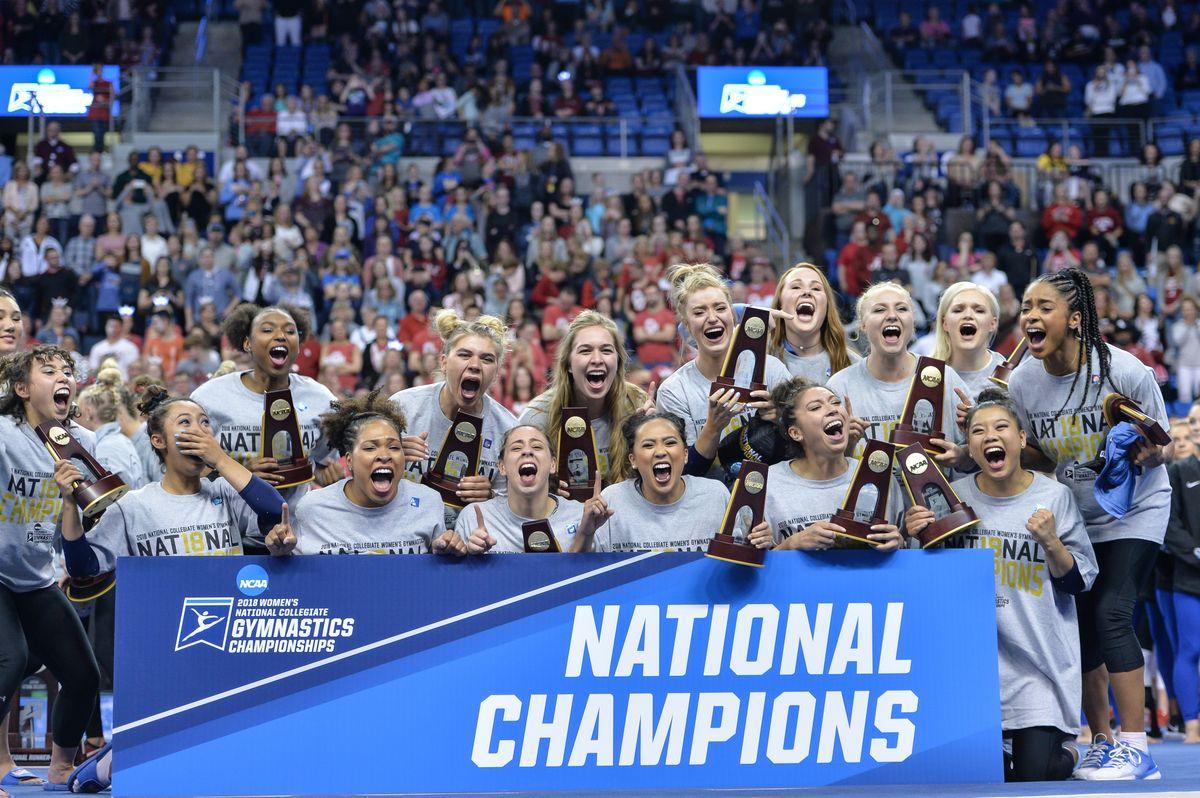 UCLA gymnastics celebrating title