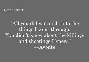 Avonte quote graphic