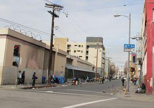 Los Angeles Skid Row at 6th Street