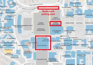 Commencement parking map for media