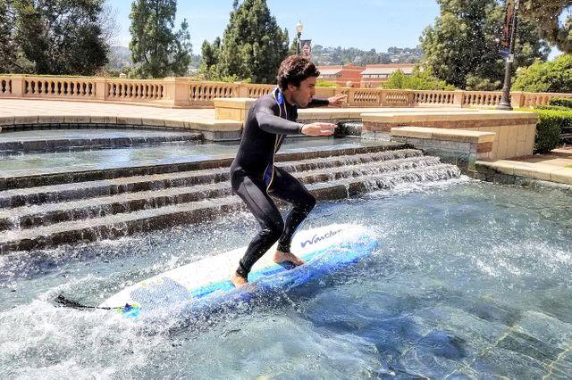 Commencement surfer