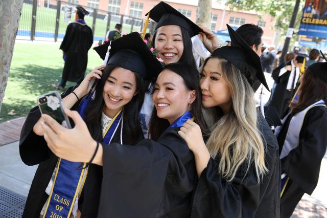 Friends celebrate commencement