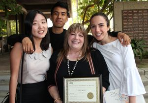 Jane Bitar with students