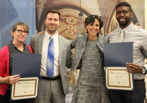 Semel HCI Center at UCLA staff scholarship presenters and recipients