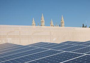 UCLA rooftop solar panels