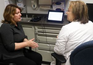 Epilepsy: Dr. Dawn Eliashiv, right, with patient Sharon Shafer