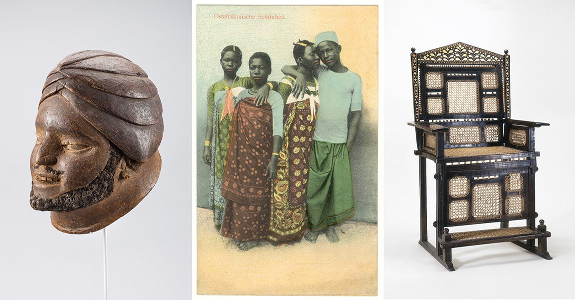 Swahili arts objects on display
