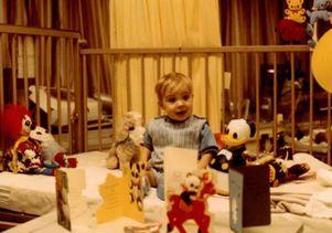 Maurice Elias in crib