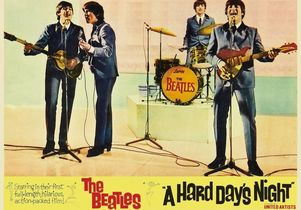 Beatles Hard Days Night poster
