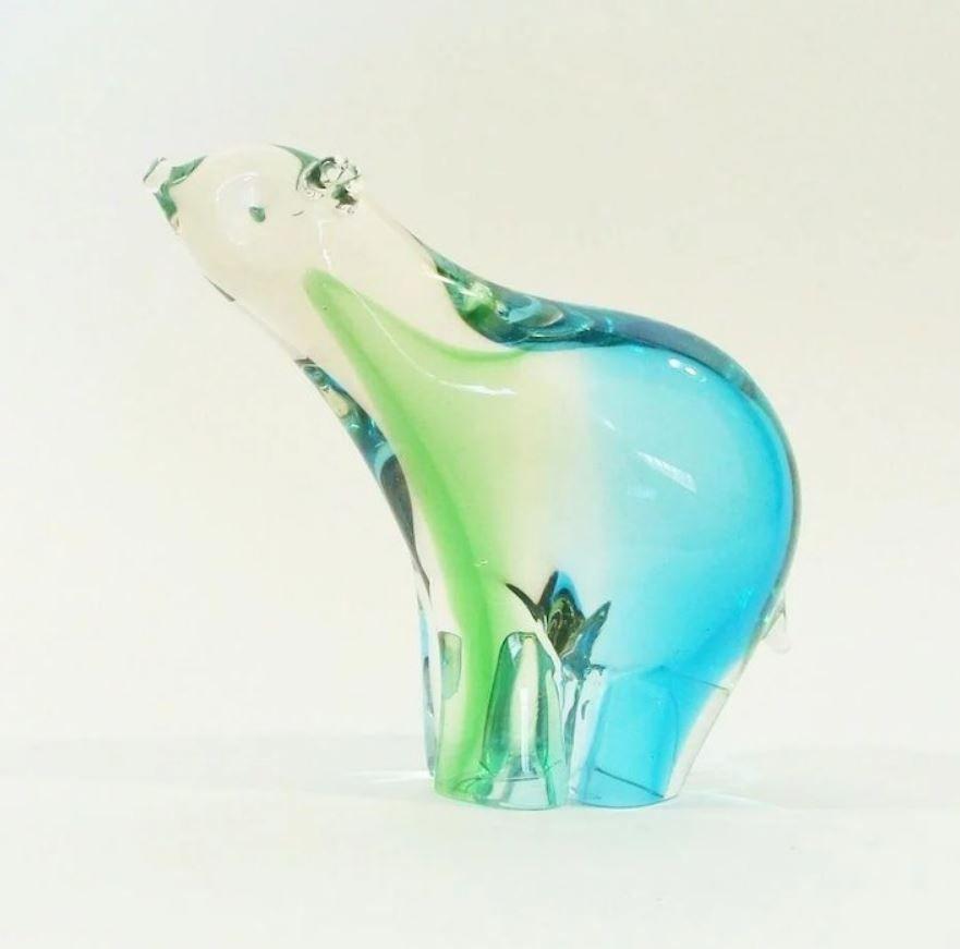 polar bear glass image