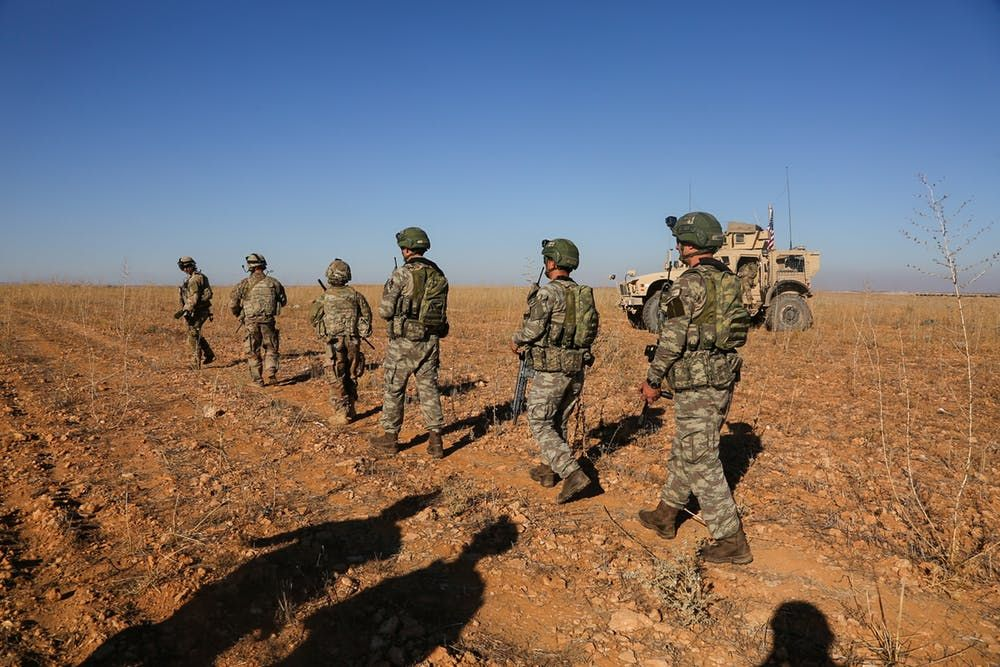 U.S. and Turkish soldiers