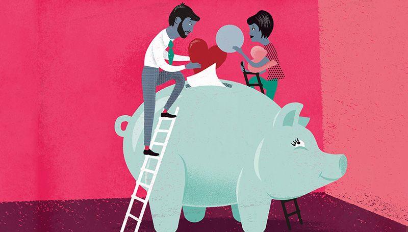Piggy bank graphic
