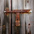 Locked wooden door