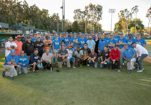 Baseball and veterans team picture