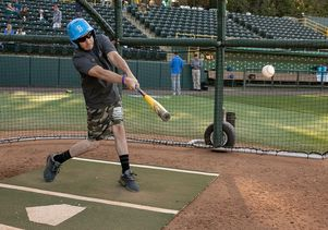 Veterans batting practice