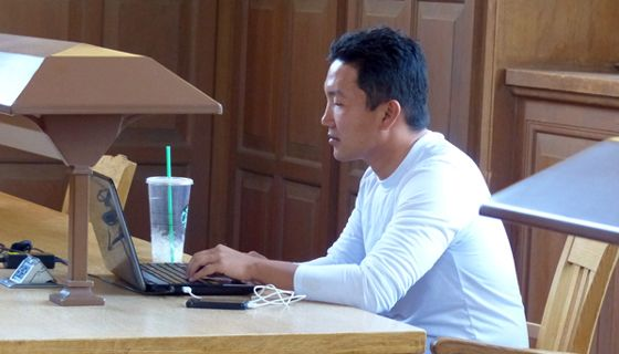 Student Studying in West Wing