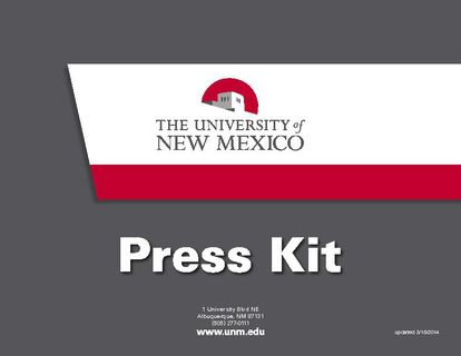 UNM Press Kit Oct