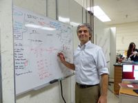 Adam Hecht in his research lab