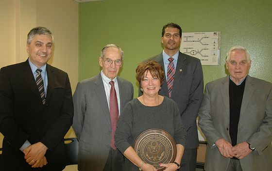 Regents Present National Blue Ribbon Shield Award