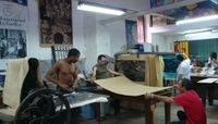 Printmaking workshop in Havana