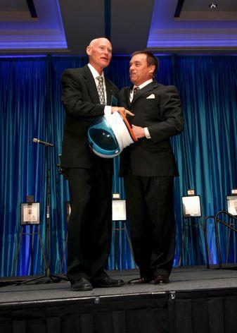 Mike Mullane with John Garcia