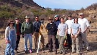UNM archeology team on site