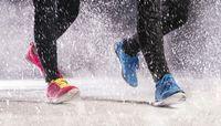 Snow jogging