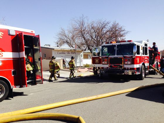 Structure fire at UNM contained