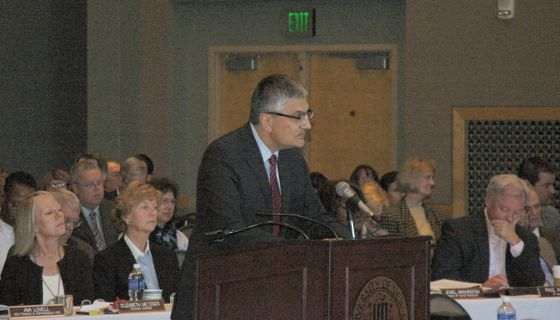 Provost Chaouki Abdallah at Budget Summit