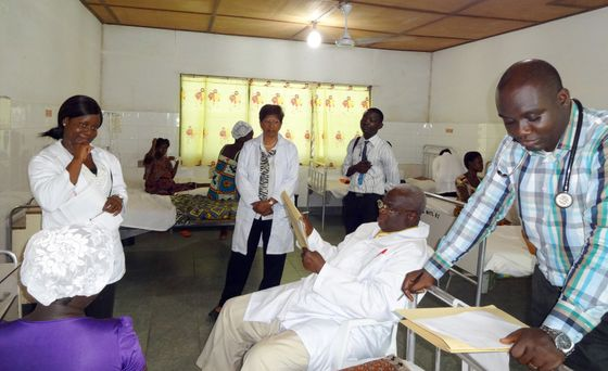 Lani Gunawardena at the clinical exam in Ghana