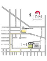 UNM parking structures map