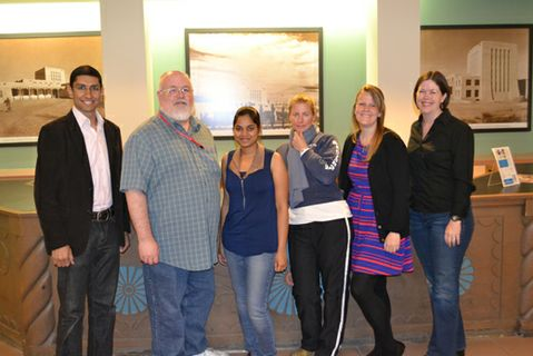 (l to r) Adelbaset Handy, Kevin Comerford (Portal Director), Anvesha Palapati, Emily Cammach, Stephanie Mack, Char Peery