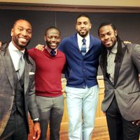 Lameck Lukanga, Arian Foster and Richard Sherman