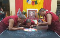 Tibetan Monks Sandpainting