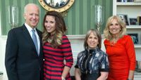 Vice President Joe Biden and UNM student Cindy Nava
