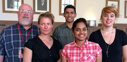 Hillerman eportal team (l to r) Kevin Comerford, Diana Filar, Abdelbaset Haridy, Anvesha Palipati, Emily Cammack